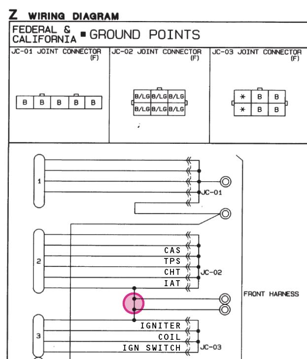 ground wiring na 1 6 90 93 jc 02 jc 03 miata turbo 93 mazda miata wiring diagram #14